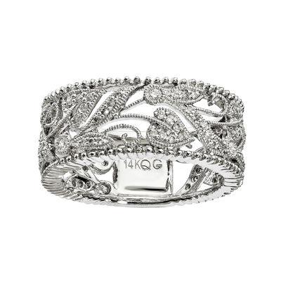 1/3 CT. T.W. Diamond 14K White Gold Ring