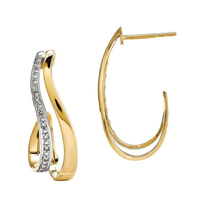 Diamond Accent 14K Yellow Gold Earrings