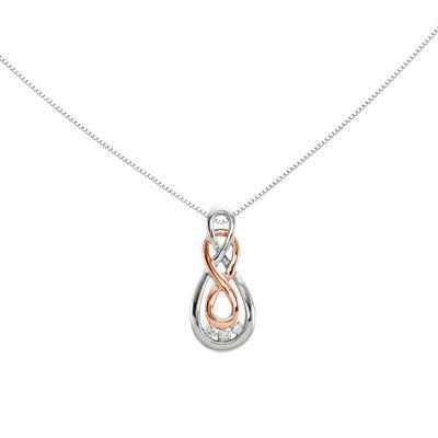 Diamond Accent 14K White Gold Infinity Pendant
