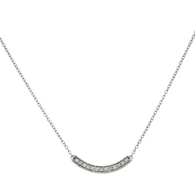 1/6 CT. T.W. Diamond 14K White Gold Pendant Necklace