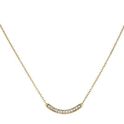 Womens 1/6 CT. T.W. White Diamond 14K Gold Pendant Necklace