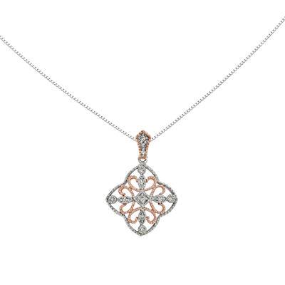 1/10 CT. T.W. Diamond 14K White Gold Pendant