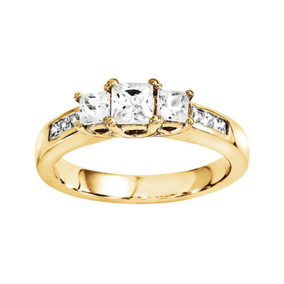 3/8 CT. T.W. Diamond 14K Yellow Gold 3-Stone Ring