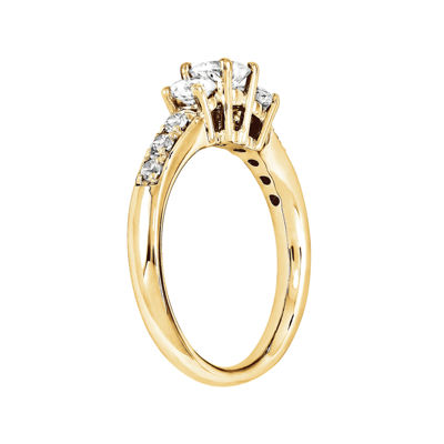 5/8 CT. T.W. Diamond 14K Yellow Gold  Prong Set 3-Stone Ring