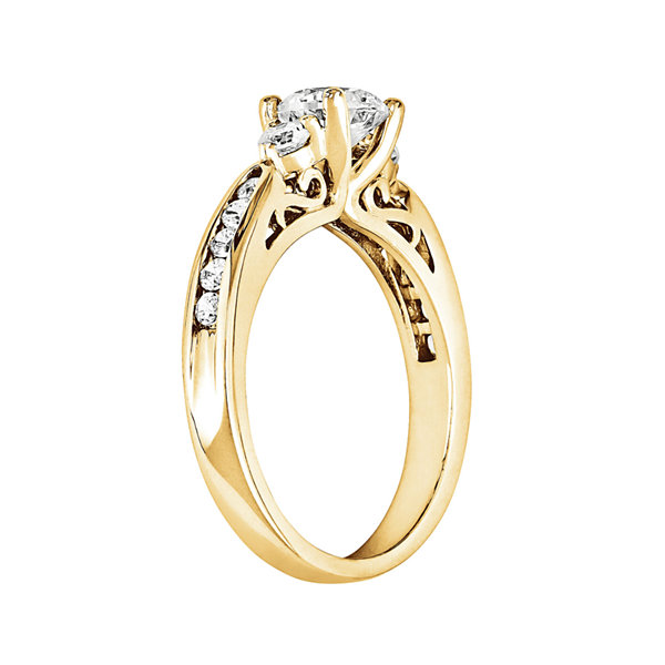 3/4 CT. T.W. Diamond 14K Yellow Gold 3-Stone Ring
