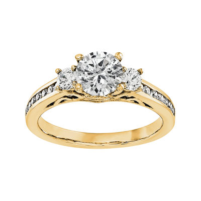 5/8 CT. T.W. Diamond 14K Yellow Gold 3-Stone Engagement Ring