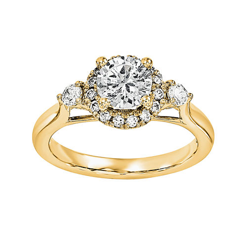 3/4 CT. T.W. Diamond 14K Yellow Gold Engagement Ring