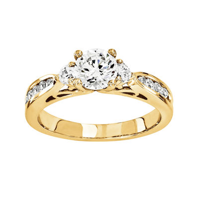 1 CT. T.W. Diamond 14K Yellow Gold 3-Stone Ring