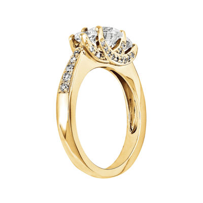 1 CT. T.W. Diamond 14K Yellow Gold 3-Stone Engagement Ring
