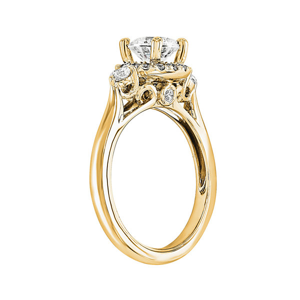 1 1/5 CT. T.W. Diamond 14K Yellow Gold Engagement Ring