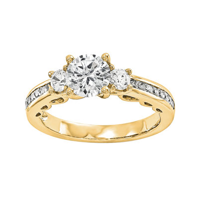 1 1/8 CT. T.W. Diamond 14K Yellow Gold 3-Stone Engagement Ring