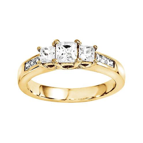 1 5/8 CT. T.W. Diamond 14K Yellow Gold 3-Stone Ring