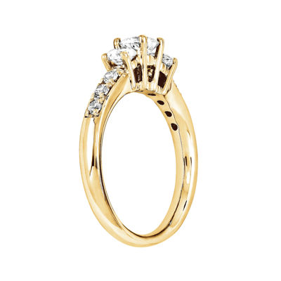1 3/4 CT. T.W. Diamond 14K Yellow Gold 3-Stone Ring
