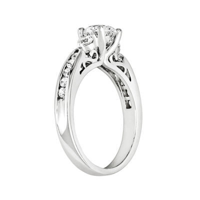 3/4 CT. T.W. Diamond 14K White Gold 3-Stone Ring