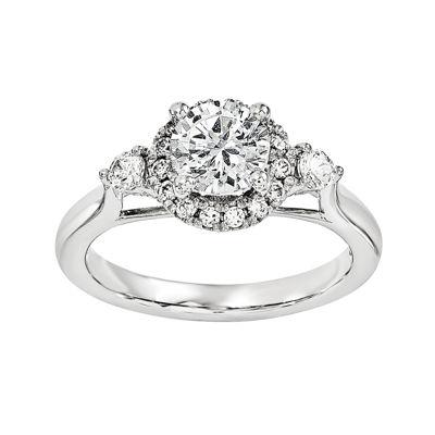 3/4 CT. T.W. Diamond 14K White Gold Engagement Ring