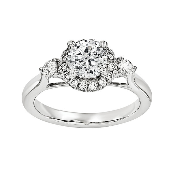 1 1/5 CT. T.W. Diamond 14K White Gold Engagement Ring