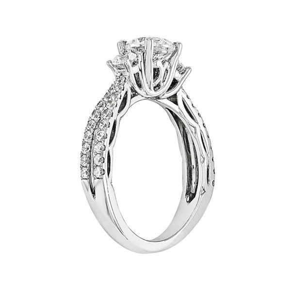 1 3/4 CT. T.W. Diamond 14K White Gold 3-Stone Engagement Ring