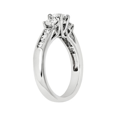 1 3/4 CT. T.W. Diamond 14K White Gold  Channel Set 3-Stone Ring