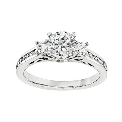 1 1/5 CT. T.W. Diamond 14K White Gold 3-Stone Engagement Ring