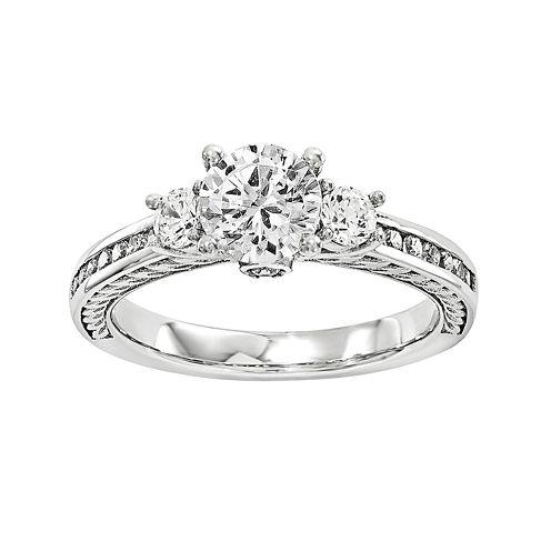 1 1/4 CT. T.W. Diamond 14K White Gold 3-Stone Engagement Ring