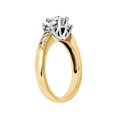 3/8 CT. T.W. Diamond 14K  Gold 3-Stone Ring