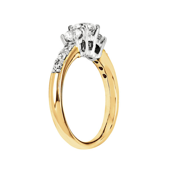 7/8 CT. T.W. Diamond 14K Gold 3-Stone Engagement Ring