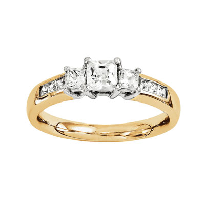 7/8 CT. T.W. Diamond 14K Gold 3-Stone Ring