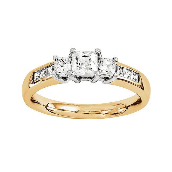 1 3/8 CT. T.W. Diamond 14K Two-Tone Gold Engagement Ring