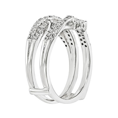 1/2 CT. T.W. Diamond 14K White Gold Ring Guard