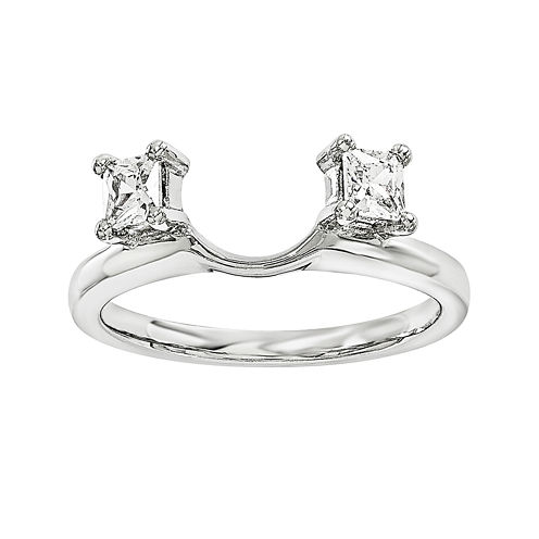 1/3 CT. T.W. Diamond 14K White Gold Ring Wrap