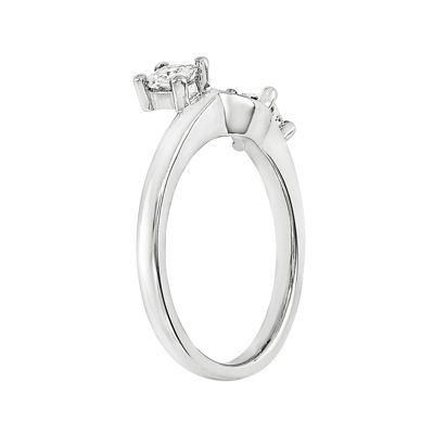 1/3 CT. T.W. Diamond 14K White Gold Ring Wrap