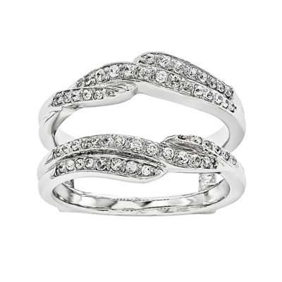 1/3 CT. T.W. Diamond 14K White Gold Ring Guard