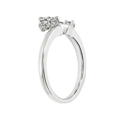 1/4 CT. T.W. Diamond 14K White Gold Ring Wrap