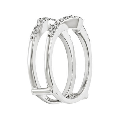 1/4 CT. T.W. Diamond 14K White Gold Ring Guard
