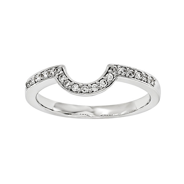 1/5 CT. T.W. Diamond 14K White Gold Ring Wrap