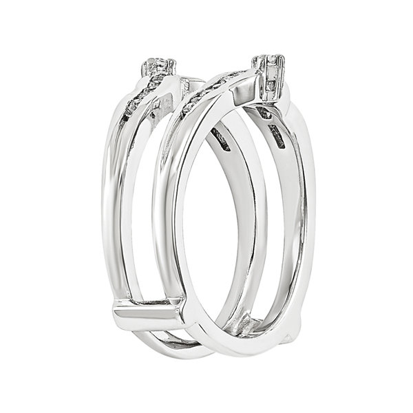1/5 CT. T.W. Diamond 14K White Gold Ring Guard