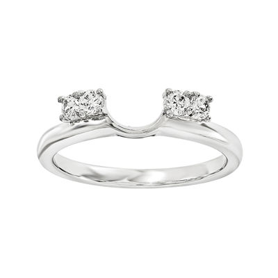 1/7 CT. T.W. Diamond 14K White Gold Ring Wrap