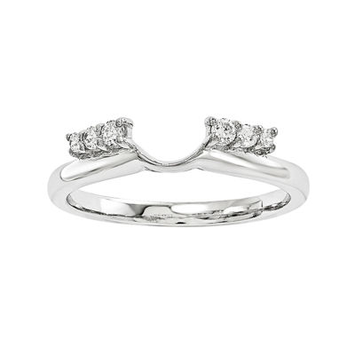 1/7 CT. T.W. Diamond 14K White Gold Wrap Ring