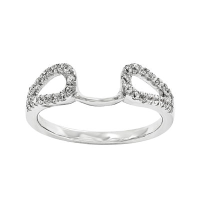 1/8 CT. T.W. Diamond 14K White Gold Ring Wrap