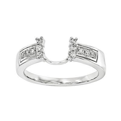 1/8 CT. T.W. Diamond 14K White Gold Ring Wrap