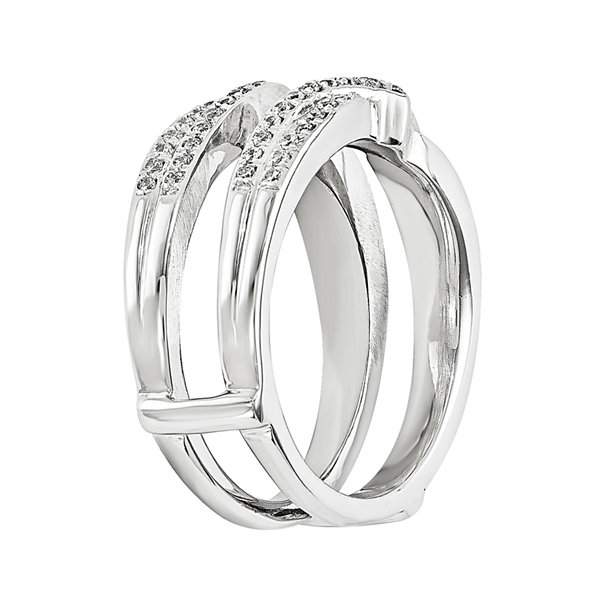 3/8 CT. T.W. Diamond 14K White Gold Ring Guard
