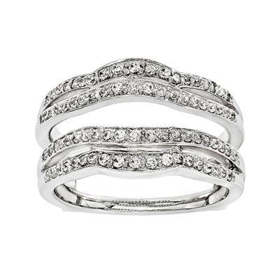3/8 CT. T.W. Diamond 14K White Gold Ring Guard