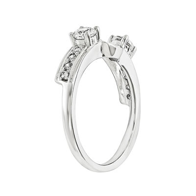 5/8 CT. T.W. Diamond 14K White Gold Ring Wrap