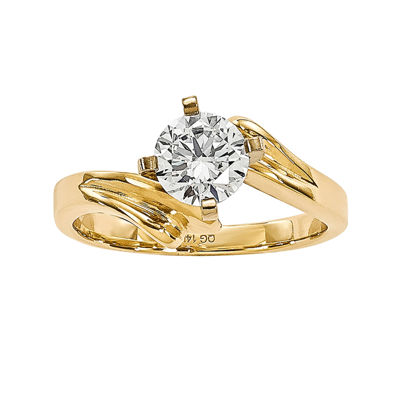 1/2 CT. Diamond 14K Yellow Gold Solitaire Ring