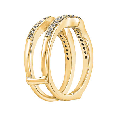 1 3 CT T W Diamond 14K Yellow Gold Ring Guard JCPenney