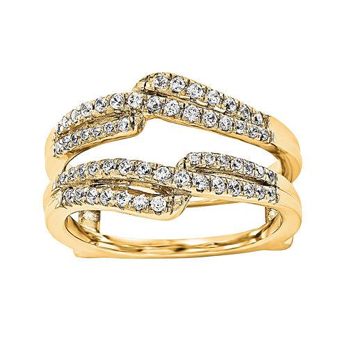 1/3 CT. T.W. Diamond 14K Yellow Gold Ring Guard