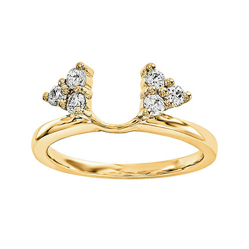 1/4 CT. T.W. Diamond 14K Yellow Gold Ring Wrap