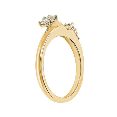 1/4 CT. T.W. Diamond 14K Yellow Gold Ring Wrap