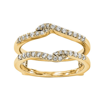 1/4 CT. T.W. Diamond 14K Yellow Gold Ring Guard