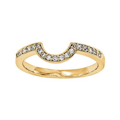 1/5 CT. T.W. Diamond 14K Yellow Gold Ring Wrap